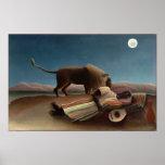 Henri Rousseau das schlafende Sinti und Roma Poster