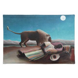 Henri Rousseau das schlafende Sinti und Roma Tischset