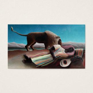 Henri Rousseau das schlafende Sinti und Roma Visitenkarte