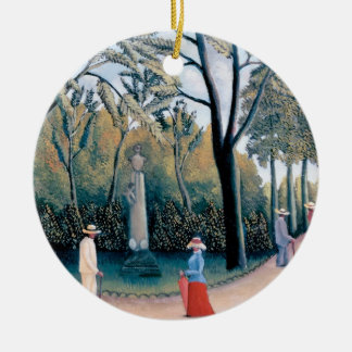 Henri Rousseau - die Luxemburg-Gärten Keramik Ornament