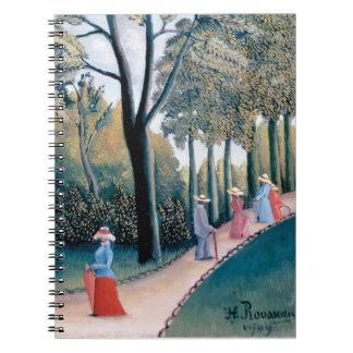 Henri Rousseau - die Luxemburg-Gärten Notizblock