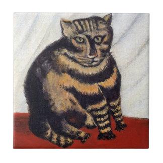 Henri Rousseau - die Tiger-Katze (Le Chat Tigre) Keramikfliese
