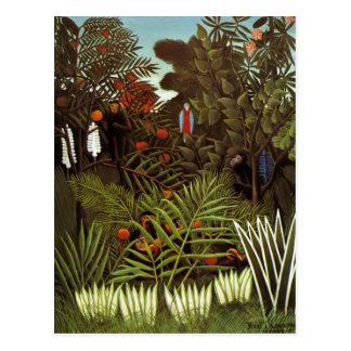 Henri Rousseau - exotische Landschaft Postkarte