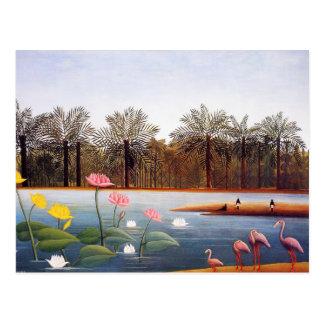 Henri Rousseau-Flamingo-Postkarte Postkarte