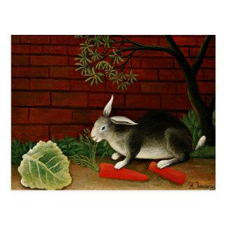 Henri Rousseau-Kunst: Kaninchen Postkarte
