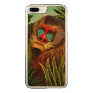 Henri Rousseau Mandrill in der Dschungel-Vintagen Carved iPhone 8 Plus/7 Plus Hülle
