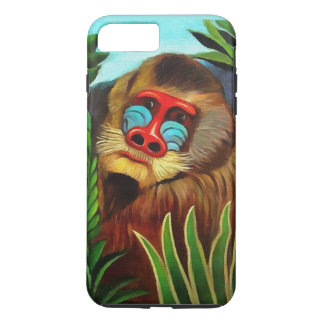 Henri Rousseau Mandrill in der Dschungel-Vintagen iPhone 8 Plus/7 Plus Hülle
