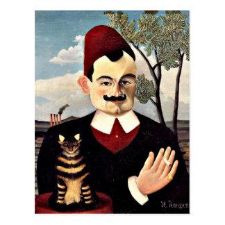 Henri Rousseau - Porträt von Monsieur X Postkarte