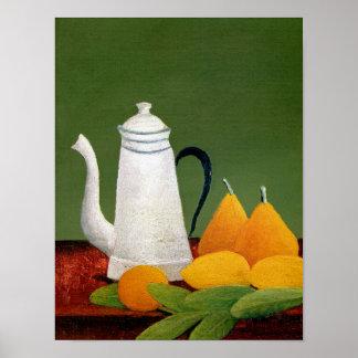 Henri Rousseau - Stillleben mit Frucht u. Teekanne Poster