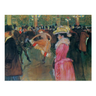 Henride - Lautrec- am Rouge, der Tanz Postkarte
