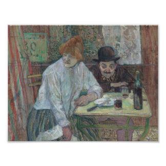 Henride Toulouse-Lautrec - am Café-La Mie Kunst Photo