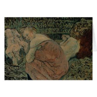 Henride Toulouse-Lautrec - zwei Freunde Karte