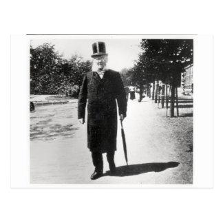 Henrik Ibsen (1828-1906) in Oslo, 1896 (b/w Foto) Postkarte