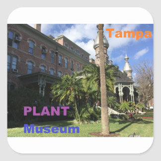Henry B. Plant Museum Quadratischer Aufkleber