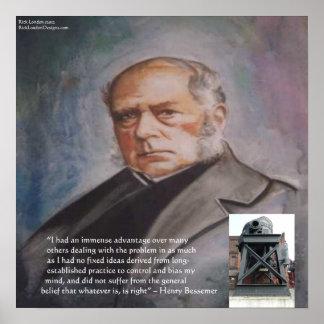 Henry Bessemer, sein Stahlkonverter-Plakat Poster