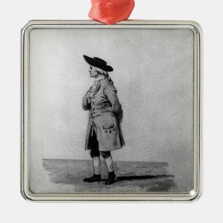 Henry Cavendish, F.R.S., 19. C. Quadratisches Silberfarbenes Ornament