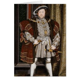 Henry das achte Porträt Karte
