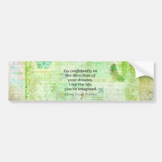 Henry David Thoreau-Traum-Zitat mit Naturthema Autoaufkleber
