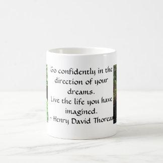 Henry David Thoreau-ZITAT Kaffeetasse