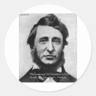 Henry David Thoreau-Zitat Runder Aufkleber