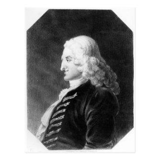 Henry Fielding gravierte durch Samuel Freeman Postkarte