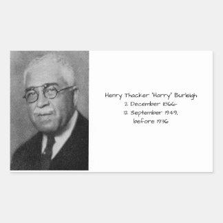 """Henry Thacker """"Harry"""" Burleigh Rechteckiger Aufkleber"""