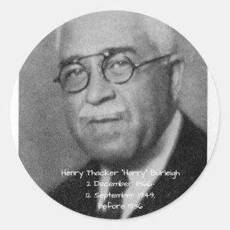 """Henry Thacker """"Harry"""" Burleigh Runder Aufkleber"""