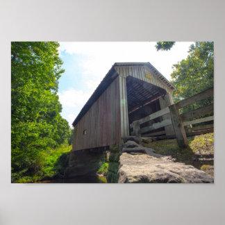 Henry-überdachte Brücke, Ohio Poster