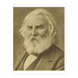 Henry Wadsworth Longfellow Postkarte