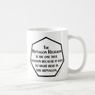 Heptagon-Religion Kaffeetasse