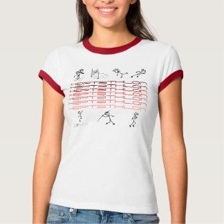 Heptathlont-shirt x 7 Töne des Rotes T-Shirt