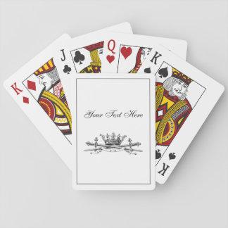 Heraldische Krone gekreuztes Spielkarten
