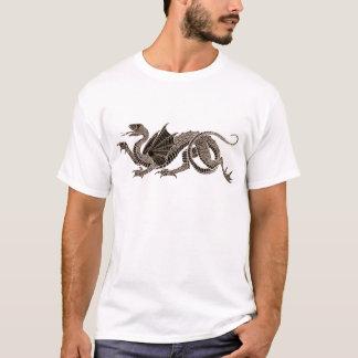 Heraldischer Drache im Sepia T-Shirt