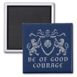 Heraldischer guter Mut-Magnet Quadratischer Magnet