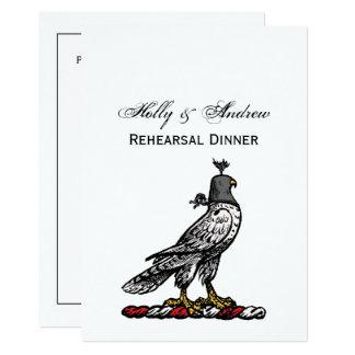 Heraldischer Jagd-Falke-tragende Sturzhelm-Haube C Karte
