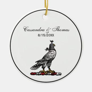 Heraldischer Jagd-Falke-tragende Sturzhelm-Haube C Keramik Ornament