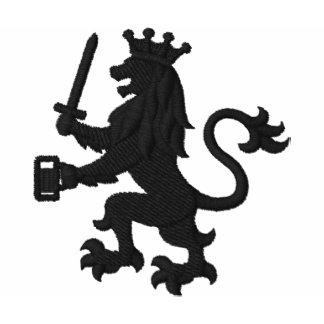 Heraldischer Löwe mit dem Bier-Tassen-lustigen
