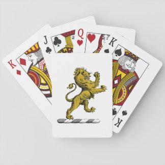 Heraldischer Löwe-stehendes Wappen-Emblem C Spielkarten