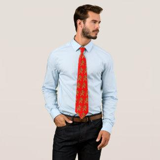 Heraldischer zügelloser Löwe Krawatte