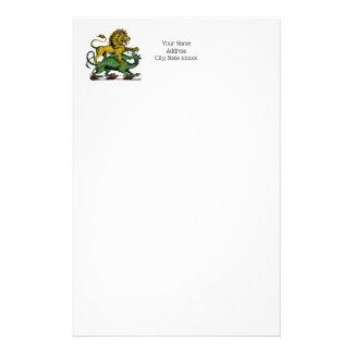 Heraldisches Löwe-und Drache-Wappen-Emblem Briefpapier