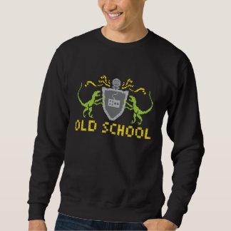 Heraldisches Pixel-Dinosaurier-Sweatshirt Sweatshirt