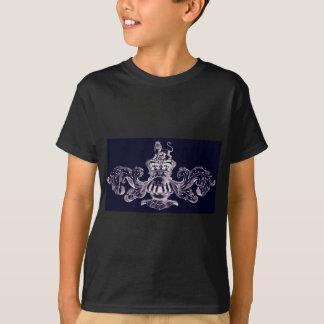 HERALDISCHES WAPPEN MIT LÖWE-VINTAGEM DRUCK INVE T-Shirt
