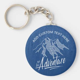 Herauf für Abenteuer-Berge weißes ID358 Schlüsselanhänger