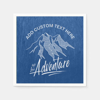 Herauf für Abenteuer-Berge weißes ID358 Serviette