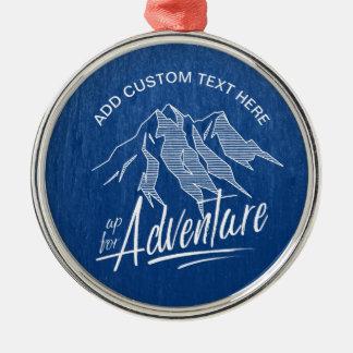 Herauf für Abenteuer-Berge weißes ID358 Silbernes Ornament