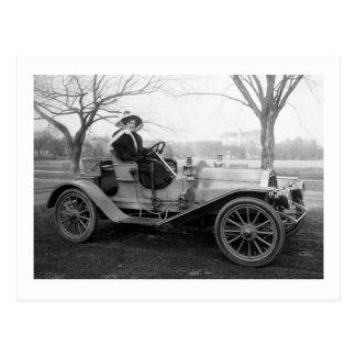 Heraus für eine Fahrt, frühe 1900s Postkarte