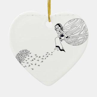 Heraus schauen keramik Herz-Ornament