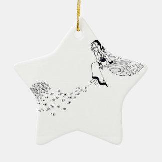 Heraus schauen keramik Stern-Ornament