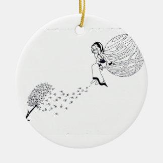 Heraus schauen rundes keramik ornament