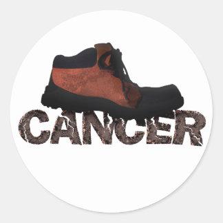Heraus stampfen Krebs - multi Produkte Runder Sticker